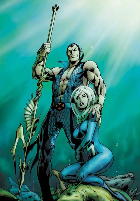 Namor the Submariner. He's like Aquaman, if Aquaman was bitch-rad and made a habit out of banging super heroes' wives.