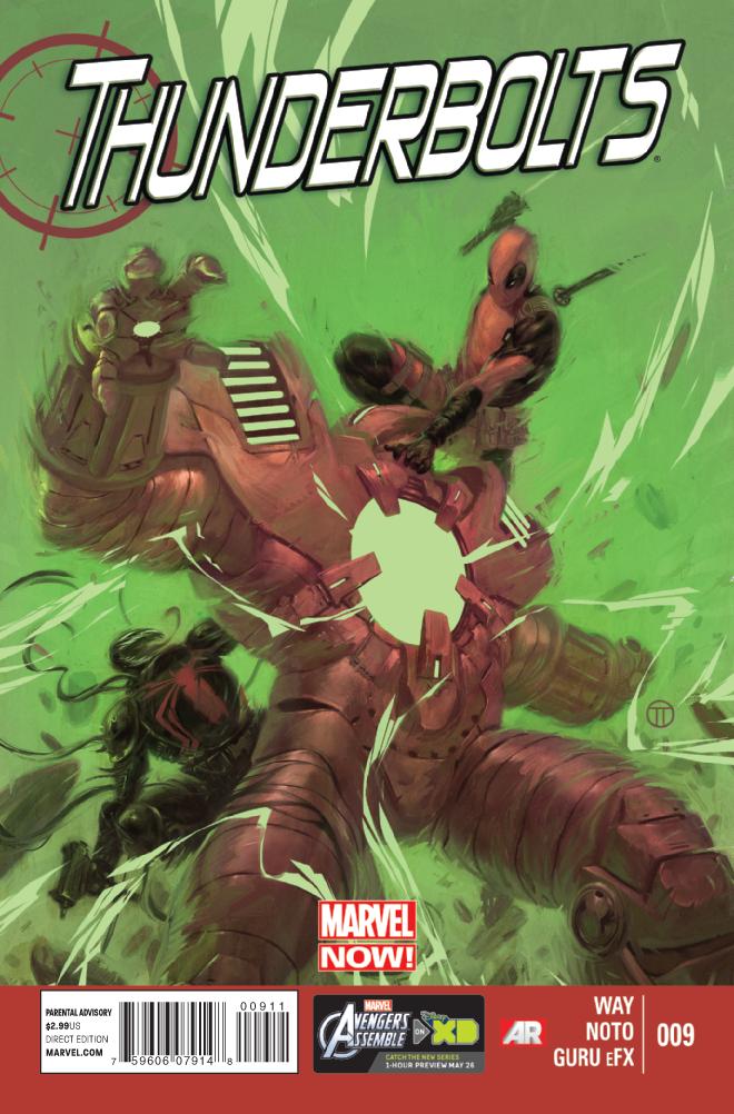 Thunderbolts #9 Marvel Now Daniel Way Phil Noto