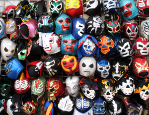 It takes very little effort to find a wrestler's mask.
