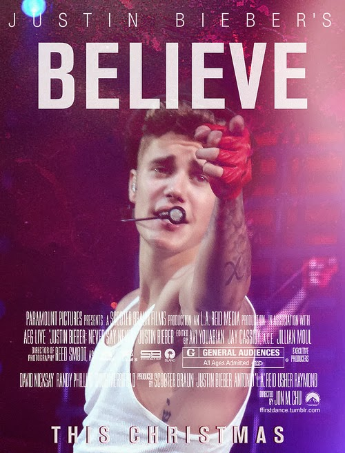 justin bieber believe movie poster - Christmas Day Movie Releases