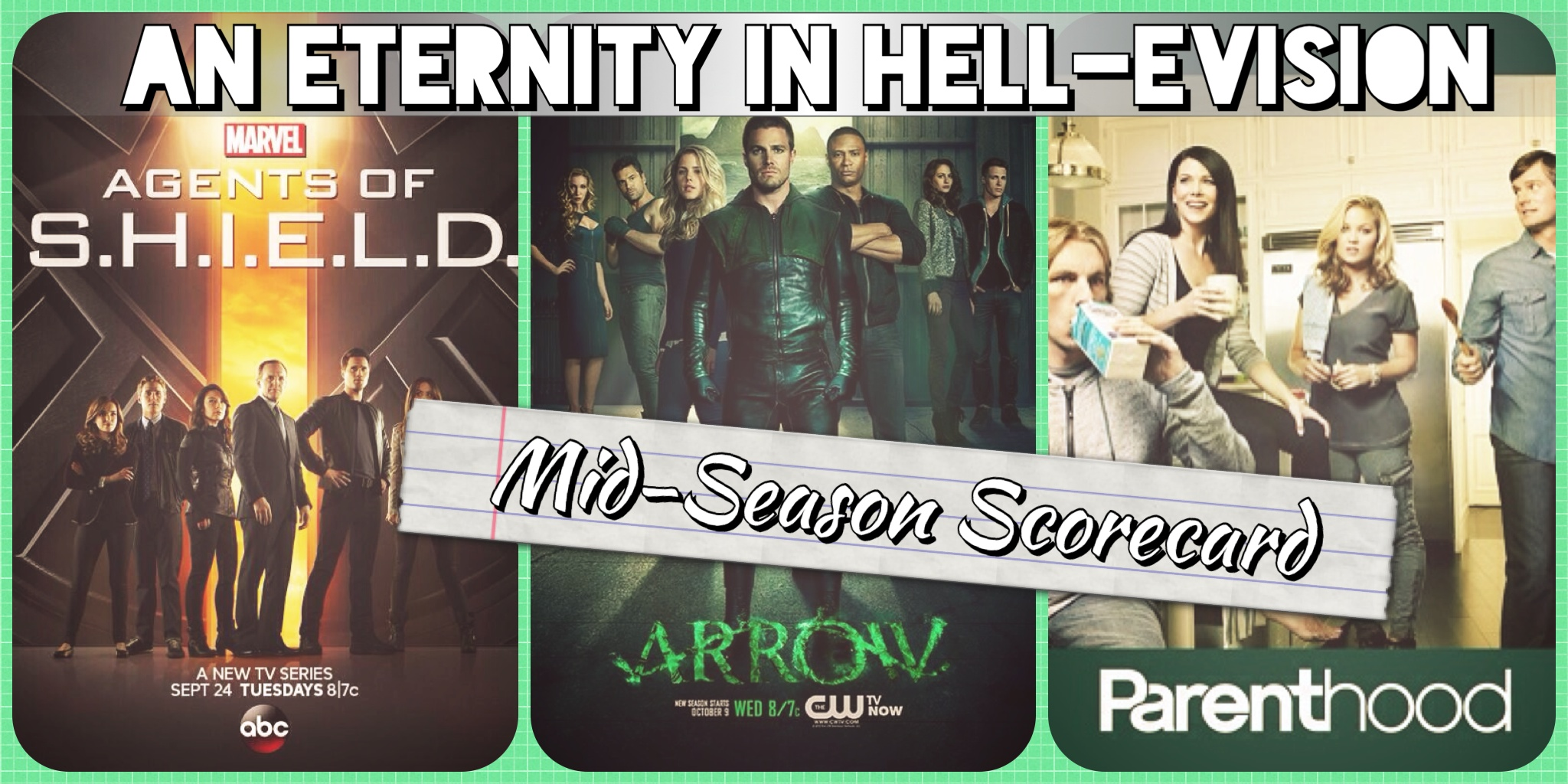 HELL-evision midseason finale premiere marvel's agents of SHIELD Arrow Parenthood ABC CW NBC