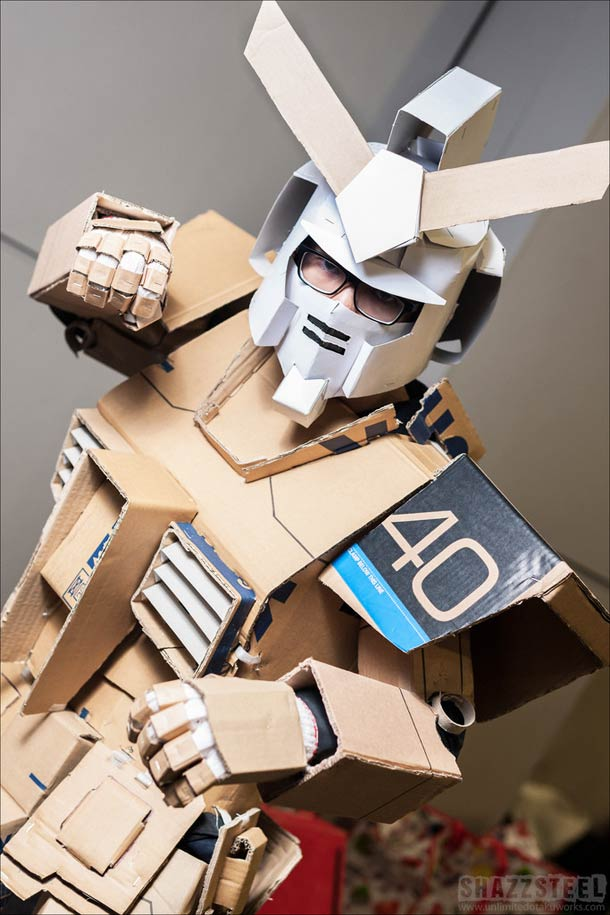 Here's an amazing way to make a Gundam costume.