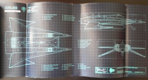 Actual schematics from inside the cover jacket.