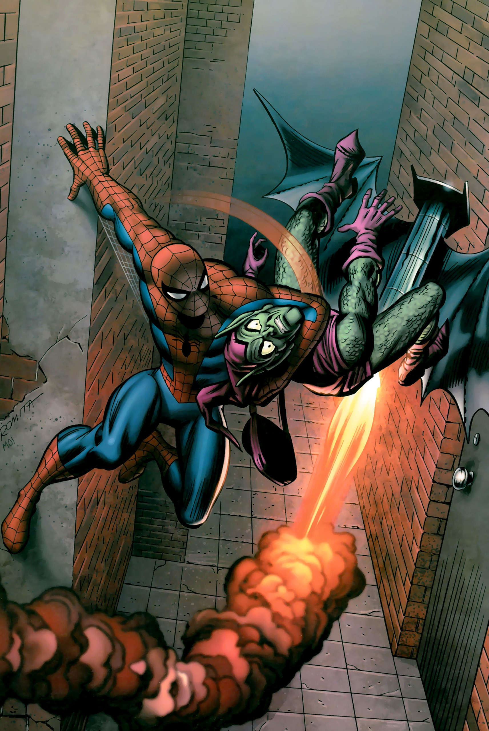 Green Goblin and Spider Man 1