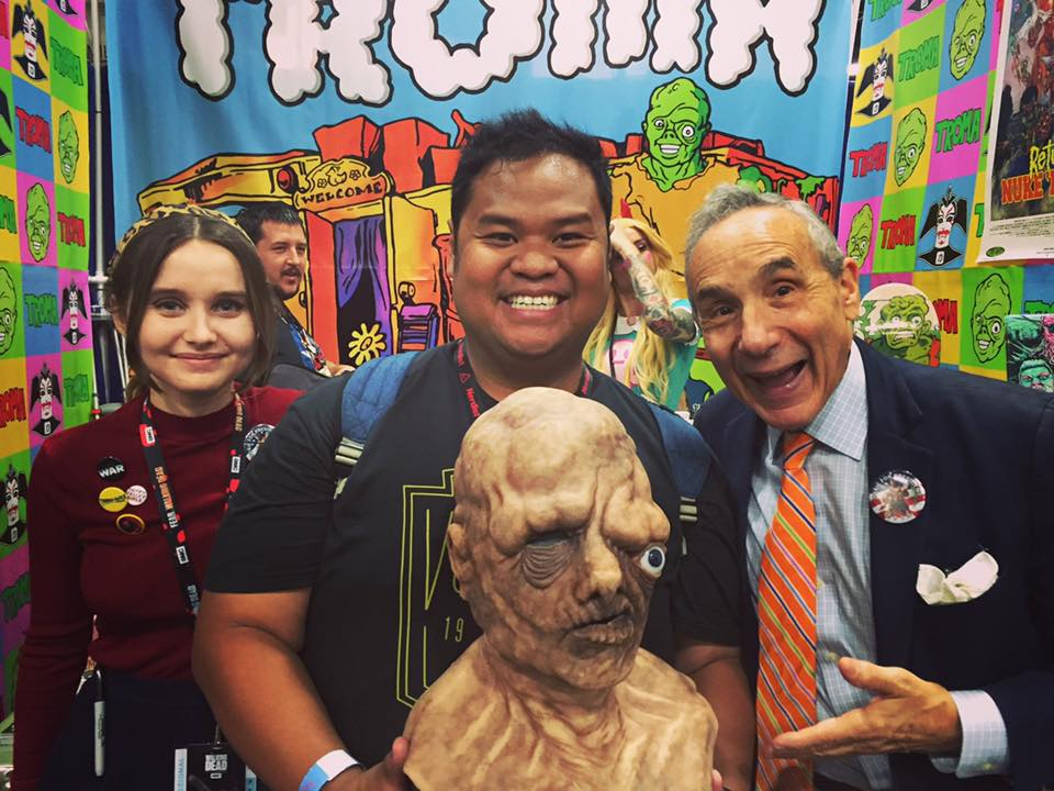 """Your FearTASTIC Vault Keeper, Lloyd Kaufman and up and coming director of """"B.C. Butcher""""  Kansas Bowling who directed this movie at age 17!  The next James Gunn? Lloyd seems to think so! Perhaps the next entry to the vault?"""